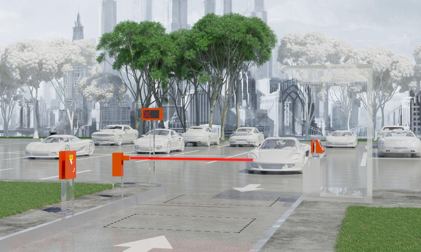 Автоматизация парковок на примере реверсивного въезда-выезда с въездной стойкой